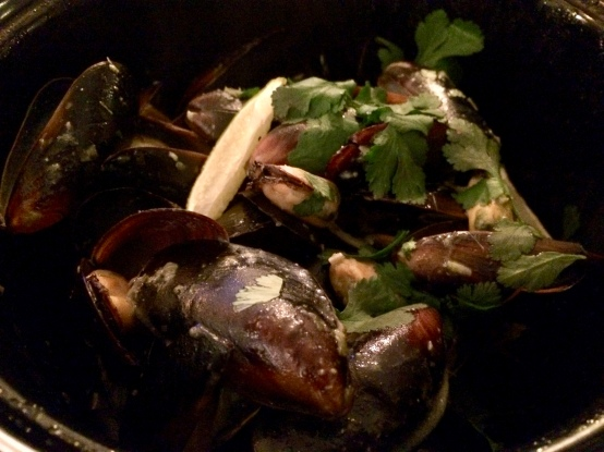Thai green Mussels